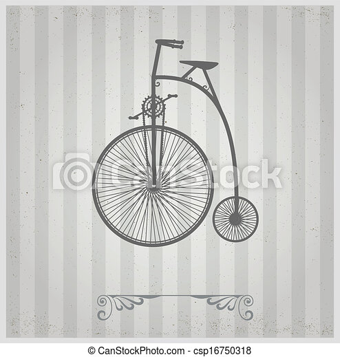 Old bicycle - csp16750318