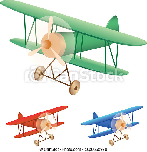 vector illustration set of old biplane rh canstockphoto com biplane clipart black and white biplane clipart png