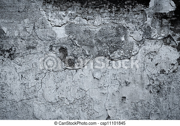 Old black and white wall - csp11101845