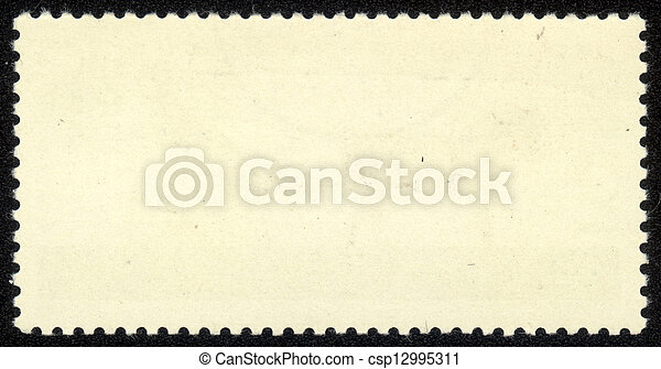 old blank postage stamp - csp12995311