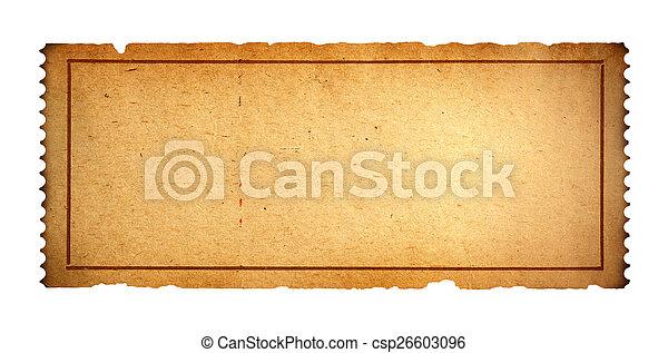 Old Blank Ticket   Csp26603096  Blank Ticket