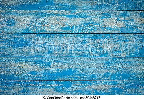 Old Blue Wood Slats Rustic Shabby Horizontal Background