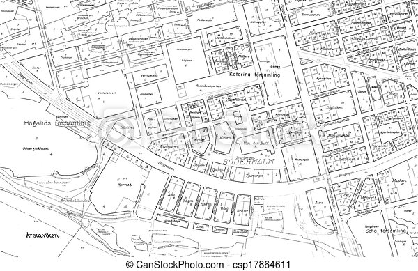 Old blueprint of part stockholm old blueprint of of the clipart old blueprint of part stockholm malvernweather Choice Image