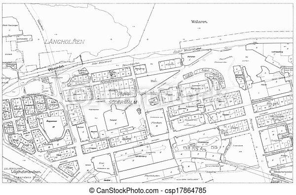 Old blueprint of part stockholm old blueprint of of the stock old blueprint of part stockholm malvernweather Images