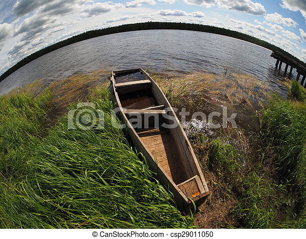 old boat on the river - csp29011050