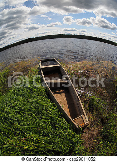 old boat on the river - csp29011052