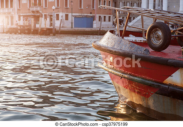Old boat on the river - csp37975199