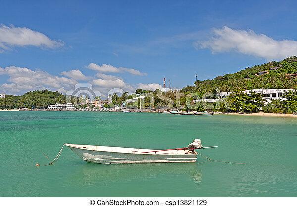 old boats near shore - csp13821129