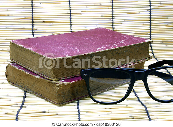Old book and glasses - csp18368128