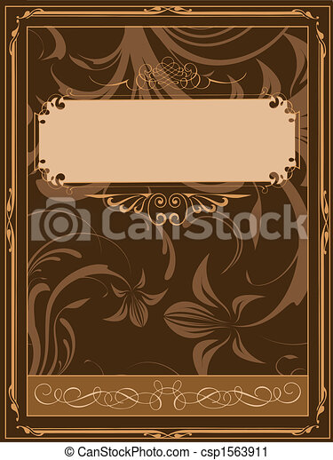 old book cover illustration rh canstockphoto com book cover clipart black and white book cover design clipart