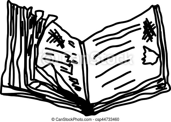 old book illustration vector doodle hand drawn isolated clip rh canstockphoto ca doodle clip art free google clipart