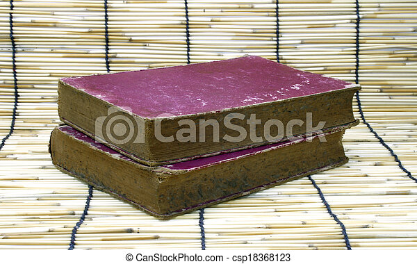 Old book on bamboo - csp18368123