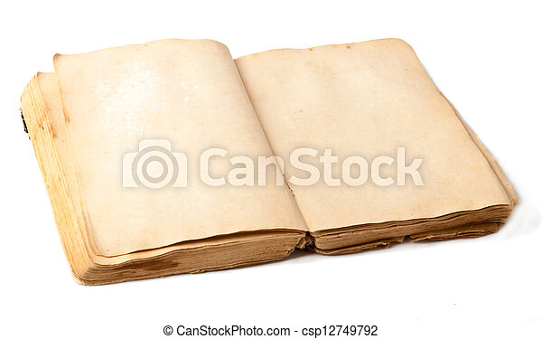 old book on white background - csp12749792