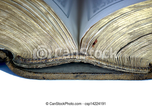 Old book opened - csp14224191