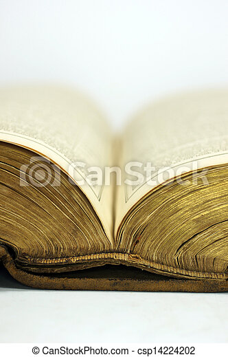 Old book opened - csp14224202