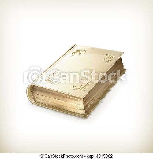 Old book, vector icon - csp14315362
