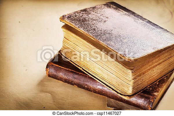 Old Books closeup - csp11467027