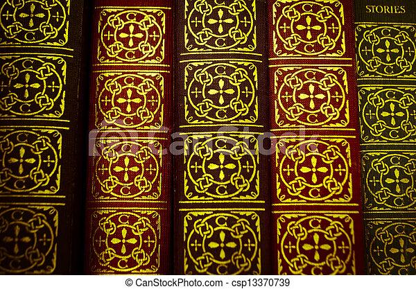 old books - csp13370739