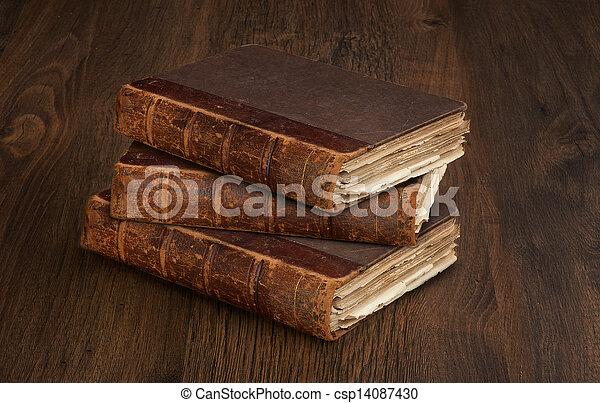 old books - csp14087430