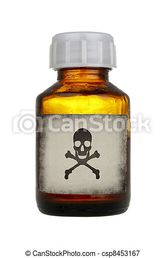 old bottle of poison - csp8453167