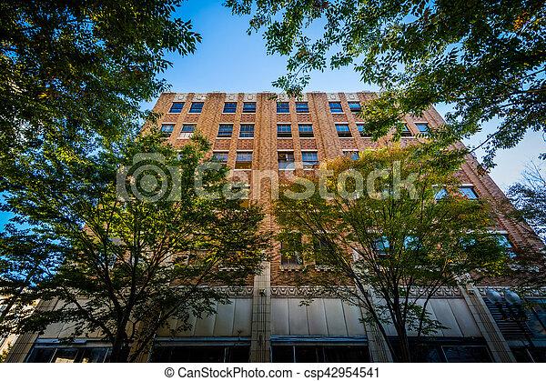 Old brick building in downtown, Winston-Salem, North Carolina. - csp42954541