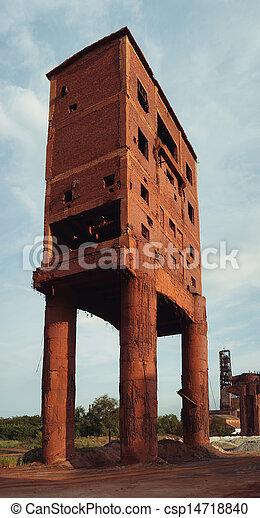 old brick building - csp14718840