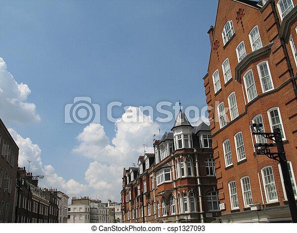 old brick building street - csp1327093