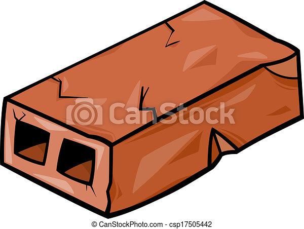 old brick cartoon clip art - csp17505442