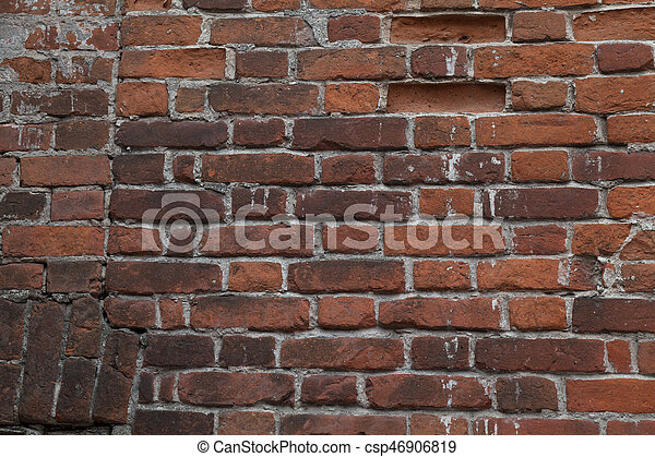 old brick stone wall background - csp46906819