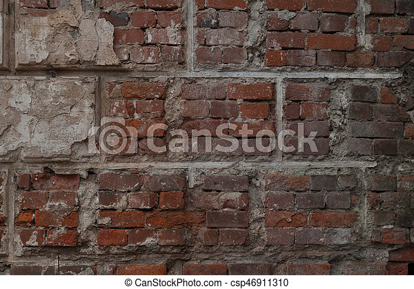 old brick stone wall background - csp46911310