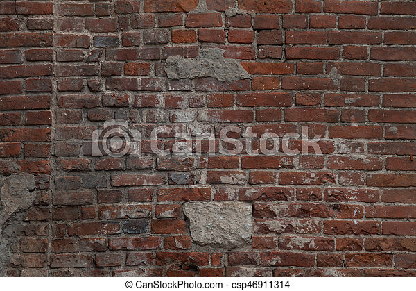 old brick stone wall background - csp46911314