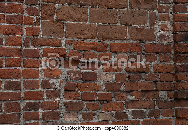 old brick stone wall background - csp46906821