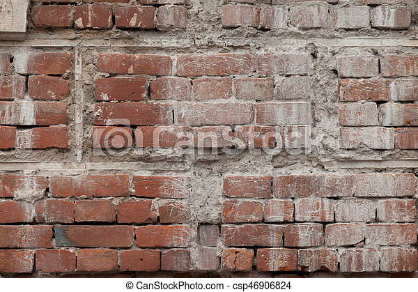 old brick stone wall background - csp46906824