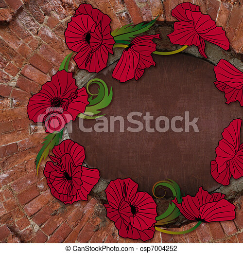 old brick wall background - csp7004252