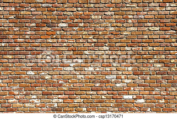 Old Brick Wall Different Colors - csp13170471