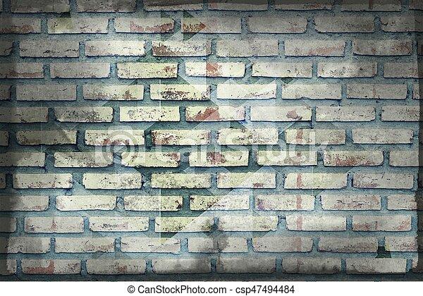 old brick wall - csp47494484