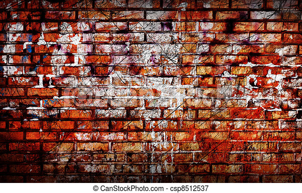 Old brick wall with graffiti elements stock illustrations Search