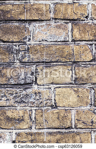 old brick wall - csp63126059