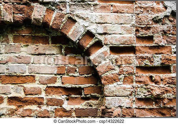 old brick wall - csp14322622