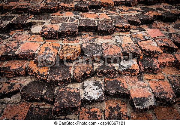 Old brick wall - csp46667121