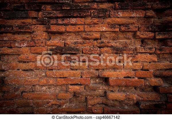 Old brick wall - csp46667142