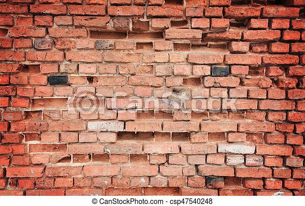 old brick wall - csp47540248