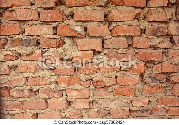 old brick wall - csp57362424