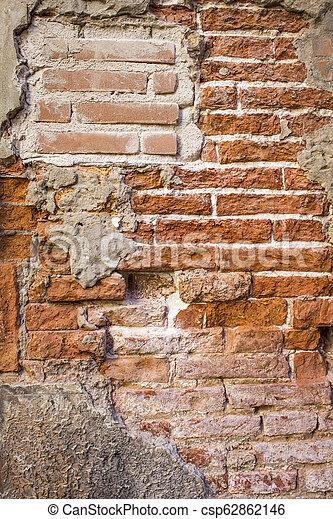 old brick wall - csp62862146