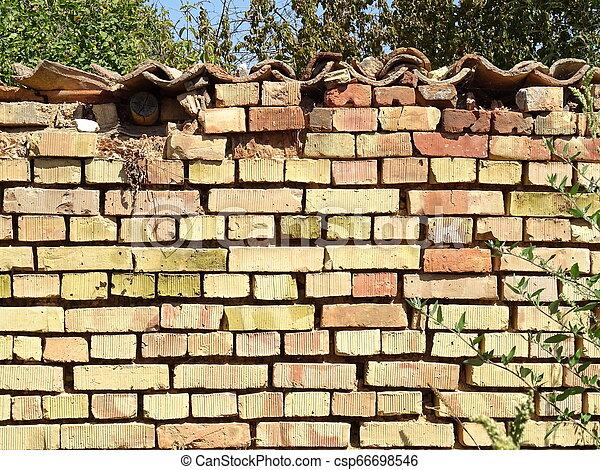 Old Brick Wall - csp66698546