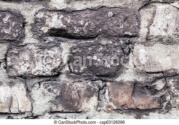 old brick wall - csp63126096
