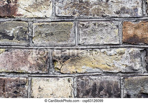 old brick wall - csp63126099