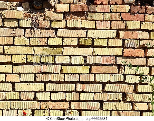 Old Brick Wall - csp66698534