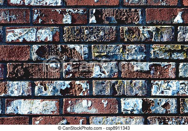 Old Brick Wall - csp8911343
