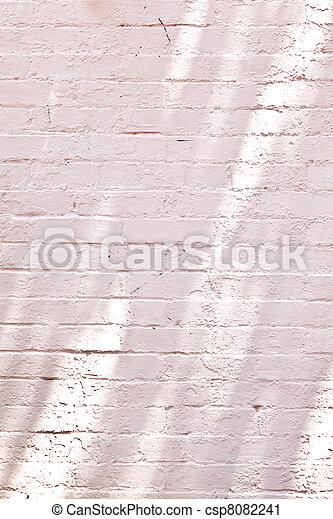 old brick walls of historic houses in typical structure - csp8082241